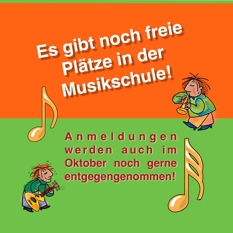 Es gibt noch freie Plätze in der Musikschule!